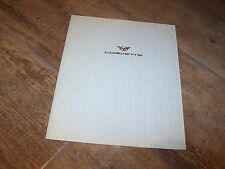 Prospectus   / Brochure CHEVROLET Corvette C5 1999 //