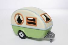 Miniature Dollhouse FAIRY GARDEN ~ Camping Trailer With Solar Light ~ NEW