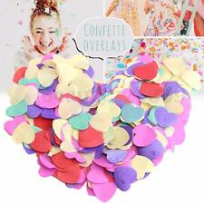 Multi Color Heart Shape Biodegradable Confetti Tissue Paper Wedding Party Decor