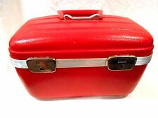 Vintage Towncraft Hardshell Makeup Case/Carry On-Red 14 x 9 x6