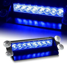 8 LED for Car Dash Strobe Lights Blue Flash Emergency Police Warning Safety Lamp