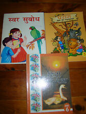 3 CHILDREN'S WORKBOOKS IN HINDI ONLY FOR GRADES 3 & 6 FREE U.S. SHIPPING
