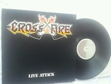 Cross Fire Live Attack mega rare 12 inch vinyl LP GERMANY METAL Enterprises!!!