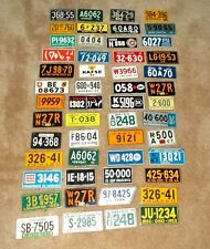 52 Vintage 1953-54 Wheaties/Post Cereal Bicycle License Plates
