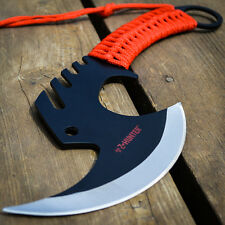 "12"" FULL TANG Hunting Survival THROWING ZOMBIE AXE Hatchet Tomahawk BATTLE HAWK"