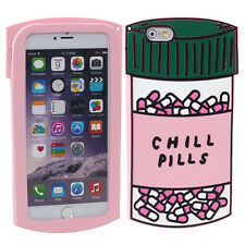 Hot Chill Pills Soft Silicone Hard New Case Cover For iPhone 6 plus / 6S Plus
