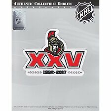 2017 NHL Ottawa Senators 25th Anniversary Official Hockey Game Jersey Patch