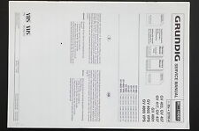 Grundig Gv 403/407/417/437/4001 Original Service-Manual/schema elettrico/parts list!
