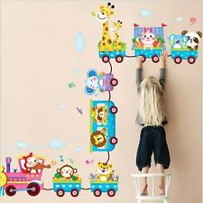 HOT! Safari Animals On Train Removable Nursery Baby Kids Wall Stickers Decal J