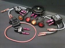 DIY Turn Signal Kit - Horn LED Lights Toggle Switch Button Fuse w/ Instructions