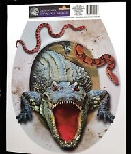Halloween Prop-CROCODILE ALLIGATOR TOILET TOPPER-Cling Decal Bathroom Decoration