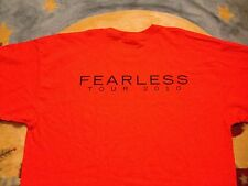 new TAYLOR SWIFT XL t-shirt LOCAL CREW Rare FEARLESS TOUR 2010 Concert Adult