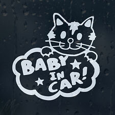 Baby In Car Funny Kitten Decal Vinyl Sticker For Window Bumper Panel