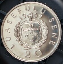1967 Samoa Proof Coin 20 Sene KM # 5 Only 15000 Minted RARE