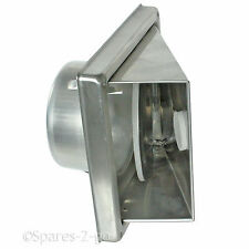 Stainless Steel Wall Air Vent Bathroom Cowl Extractor Outlet Non Return Flap 4""