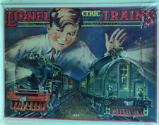 LIONEL TRAINS metal sign vintage style electric toy train ad, embossed, railroad