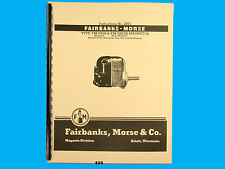 Fairbanks Morse Magneto Instruct & Parts Manual for FM-JH2B & FM-JHE2B  Mags*425
