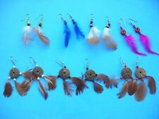 Bali handmade jewelry wholesale lot 20 prs feather earrings*Ship From US/Canada*