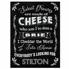 FUNNY METAL SIGN CHEESE KITCHEN PICTURE GIFT FOR HER WOMEN SISTER MUM BIRTHDAY