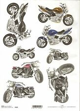 Rice Paper for Decoupage Scrapbooking Old Motorcycle Motorbike A4 ITD R888