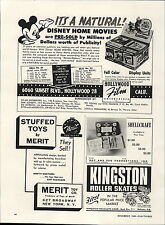1949 Paper AD Hollywood Film Walt Disney Home Movies William Morris Agency