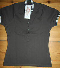 Noa Noa Polokragen- Shirt Kurzarm Gable T- Shirt Braun/Earth   size: S/36  Neu