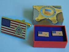 Secret Service Star and USA Flag VIP Cufflinks White House Issue Campaign 2016
