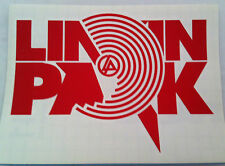 LINKIN PARK Red Target Block Logo RUB-ON car window STICKER NEW OFFICIAL MERCH