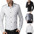 2013 Luxury Collection Slim Fit Mens Formal Business Casual Dress Shirts Tops