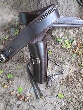 D.A.D CUSTOM LEATHER Plain Leather Cowboy Western Holster Brown or Black
