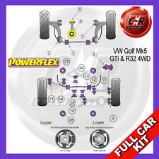VW Golf Mk5 R32 03-09 Powerflex Full Bush Kit Frt Wishbone Frt Bushes Camber Adj