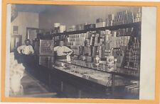 Real Photo Postcard RPPC - Two Men in Grocery Store
