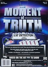 THE MOMENT OF TRUTH - LIE DETECTOR CARD GAME - Based on Hit FOX TV show - NIB