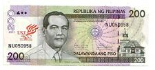 Filippine Philippines  200  piso 2011     FDS UNC     Pick 203     Lotto 3692