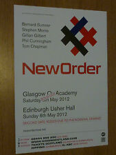New Order - Glasgow/Edinburgh may 2012 tour concert gig poster