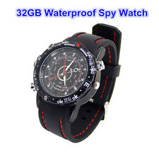 Waterproof Spy Watch Camera Pinhole Hidden Mini Camcorder Recorder 32GB DVR Cam