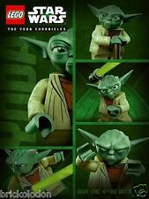 """LEGO Star Wars Yoda Chronicles Poster 32"""" x 24"""" Minifigure Limited Edition Promo"""