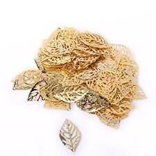 100Pcs Jewelry Findings,Charms,Pendants,Rose gold plated Alloy Tree leaf