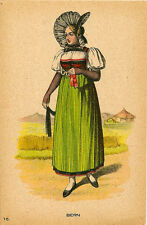 SWITZERLAND : Lady in Costume - BERN-ART ET DOCUMENT