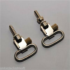 "Bolt Action Rifles 1"" Sling Silver Swivels"