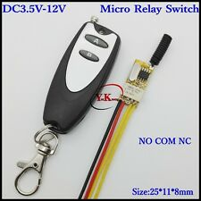 Mini Relay Switch DC 3.7V 4.2V 4.5V 5V 6V 7.4V 9V 12V Contact NO COM NC Remote