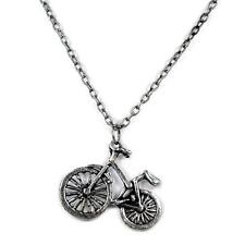 BICYCLE CHARM NECKLACE Bike Retro Vintage Style Pendant Boho Jewelry Clasp Chain
