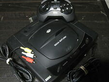 Complete SEGA SATURN SYSTEM Black Console Official Controller New Battery Bundle
