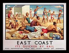 East Coast su más rápido por ferrocarril-Enmarcado 30 X 40 impresión oficial