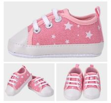 NEW Baby Girl Star Canvas Pre-walker Shoes 0-6-9-12 months, navy blue, pink