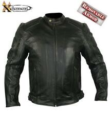 Men's Executioner Armored Black Racer Motorcycle Jacket size 2XL