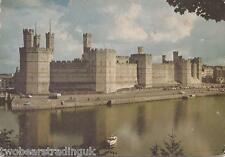 Postcard: Caernarvon Castle - Eagle, Queen's & Black Towers (1966)