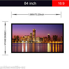 Portable Collapsible 84 inch 16:9 Fabric Matte White Projector Projection Screen