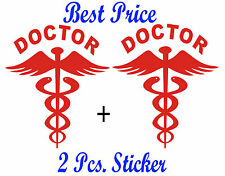 2 nos Reflective RED Doctor Decal / Sticker for any Car