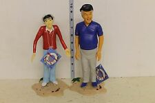 Gilligan's Island Vinyl Figures Skipper and Gilligan 10in Figures LOOSE